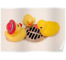 """Where Did All The Water Go?"" - rubber ducks looking for water Poster"