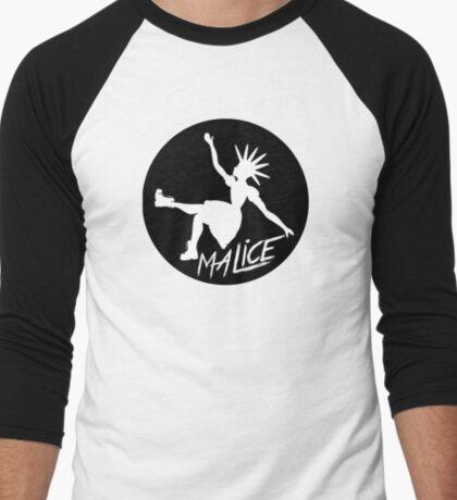 Malice Magazine Logo Men's Baseball ¾ T-Shirt