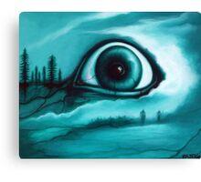"""Buried in the Woods"" Creepy Eye Art by VCalderon Canvas Print"