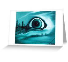 """Buried in the Woods"" Creepy Eye Art by VCalderon Greeting Card"