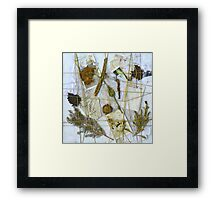 Paper & Nature Collage (DisCo Reveal) Framed Print