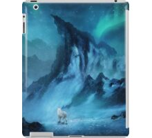Wolf in a snow landscape iPad Case/Skin