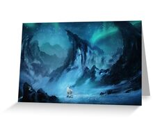 Wolf in a snow landscape Greeting Card