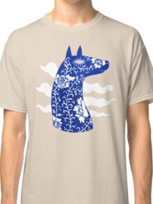The Water Horse in Blue and White Classic T-Shirt