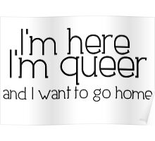 I'm here I'm queer and I want to go home Poster