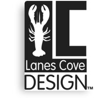Classic LCD Logo Pattern Canvas Print