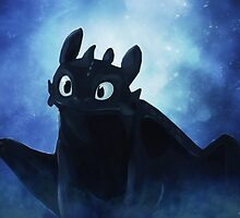 Toothless - painting by Liancary