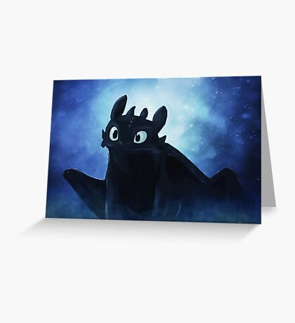 Toothless - painting Greeting Card