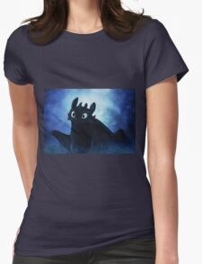 Toothless - painting Womens Fitted T-Shirt