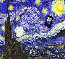 Tardis Starry Night by LuckyBrew