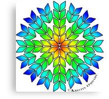 Knit Burst Rainbow Canvas Print