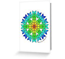 Knit Burst Rainbow Greeting Card