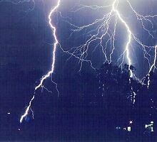 lightning over wirrulla  by david  stiglmayer