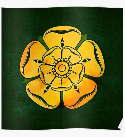 Gold Rose Poster