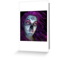 Sugar Doll Purple Greeting Card