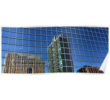 Shaky town: reflections, downtown Toronto Poster