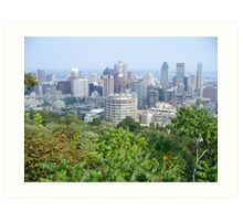 Montreal, as viewed from the Mountain Art Print