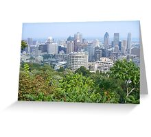 Montreal, as viewed from the Mountain Greeting Card