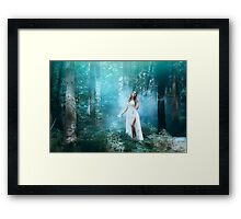 Mystic forest fairy Framed Print