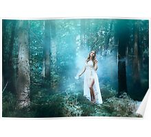 Mystic forest fairy Poster