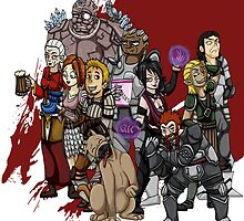 Dragon Age Origins: Lineup by ZetsumeiArashi