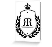 Classy R.  Greeting Card