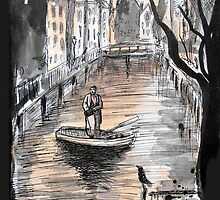 he threw himself into the river one night by Loui  Jover