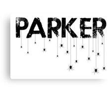 Parker Spider - Black Canvas Print