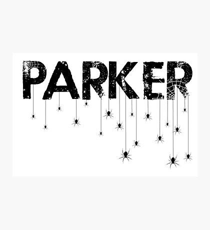 Parker Spider - Black Photographic Print