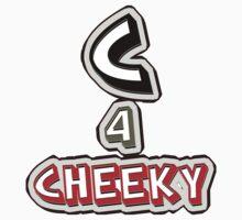 C 4 cheeky - sticker by vampvamp
