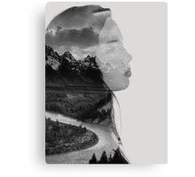 Double Exposure Mountains Canvas Print