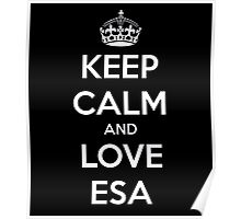 Keep calm and love esa Poster