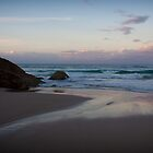 Sunset at North Burleigh beach by Melinda Watson