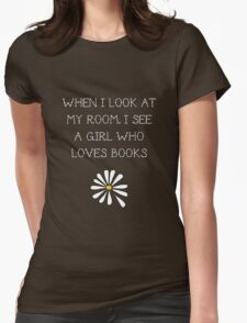 LFA - A girl who loves books Womens Fitted T-Shirt