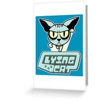 Lying Cat Powerpuff Greeting Card