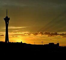 Desert Sunset by Eleu Tabares