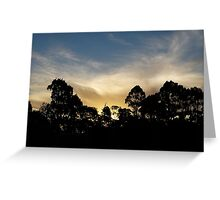 Summer Evening Sky Greeting Card