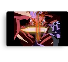 Neon Genesis Evangelion - Unit Fights - 2015 1080p Blu-Ray Cleaned Upscales Canvas Print