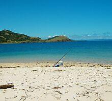 Fishing Pole on Beach by jakiblue