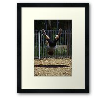 The world from a different view ... Framed Print