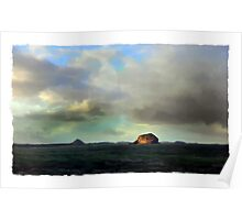 Bass Rock, Firth of Forth, Scotland Poster