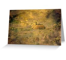 """""""a Vintage View from Wellington Zoo ..."""" Greeting Card"""