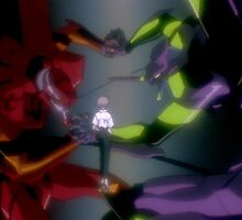 Neon Genesis Evangelion - Eva Unit Wrestle ft Kaworu - 2015 1080p Blu-Ray Cleaned Upscales by frictionqt