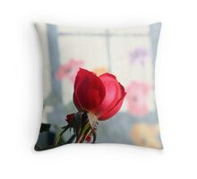 Painted Posies Throw Pillow