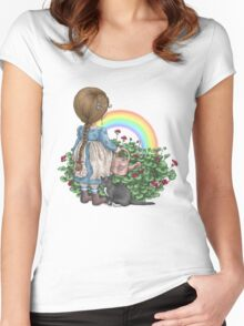 rainbows end Women's Fitted Scoop T-Shirt