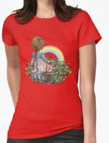 rainbows end Womens Fitted T-Shirt