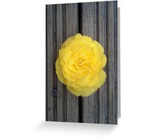 Yellow Flower on the Deck Greeting Card