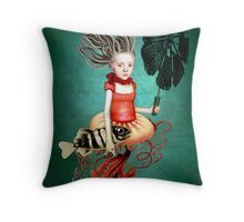 Die kleine Meerhexe Throw Pillow