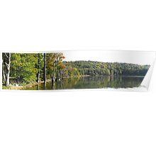 Mountain Lake Pano- Fall 2008- Meaford Ontario Canada. Poster