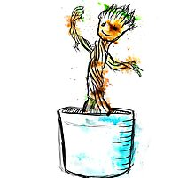 Water Colour Groot by reaperwithaplan